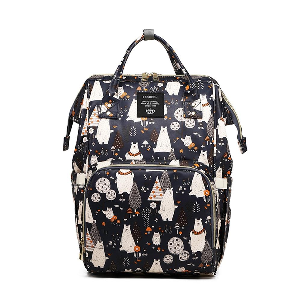Cute Bear Diaper Bag Maternity Bag For Baby Waterproof Diaper Bags Backpack Nappy Bag Large Capacity Pinted Mummy Bags