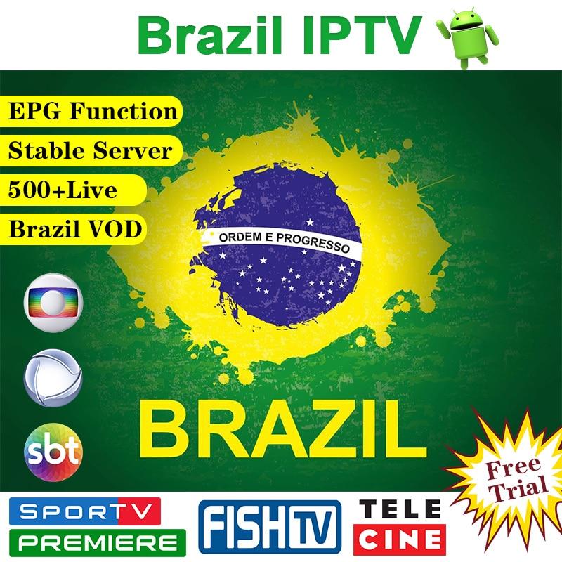 IPTV Brazil Android IPTV M3u Subscription Portuguese 500+ Canais Brazil VOD 4K VIP H.265 Brazil Subscription IPTV Brasil IP TV