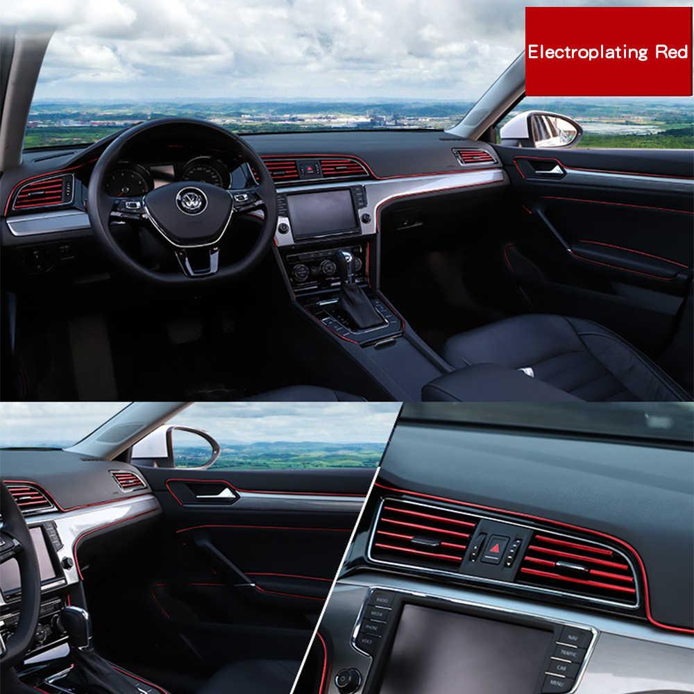 5 متر الداخلية الديكور قطاع خط صب الكسوة الباب لوحة القيادة حافة العالمي السيارات الكروم قطاع و أداة اكسسوارات السيارات التصميم
