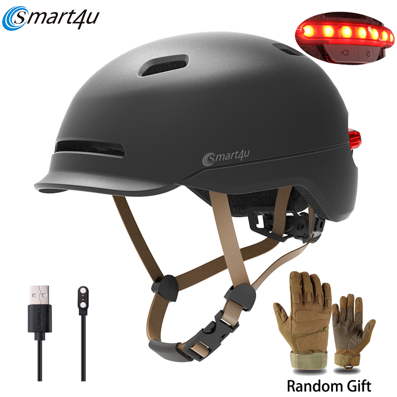 Smart4u MTB Outdoor Cycling Sport Smart Helmet electric Bike Lamp Racing Motorcycle Bicycle Back Light Kids Helmet Men Women title=