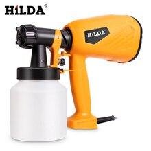 цена на HILDA Electric Spray Gun 800ml HVLP Household Paint Sprayer Electric Airbrush Easy Spraying Cars Wood Furniture Wall Wood