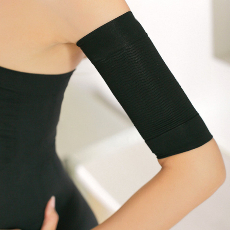 Women Arm Sleeves Weight Loss Thin Legs Shaper  Thin Arm Calorie Off Fat Buster Slimmer Wrap Belt Black Arm Warmers 1pair