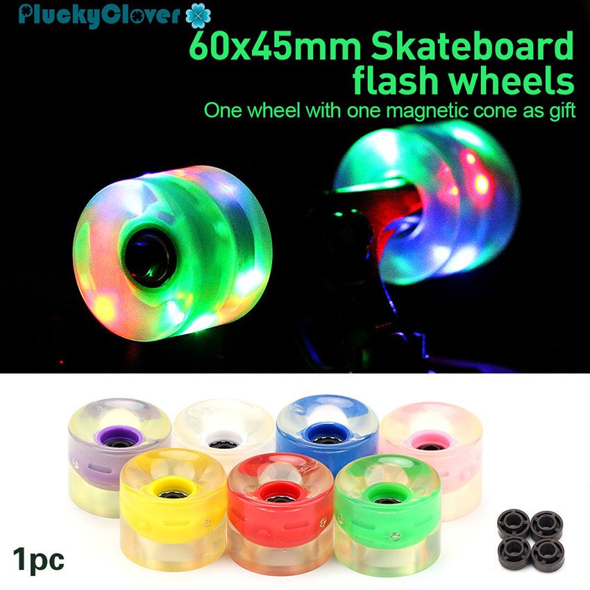 Brand New  4PCS Penny Style Board WHEELS Clear Green1 set 60 x 45 mm 85A