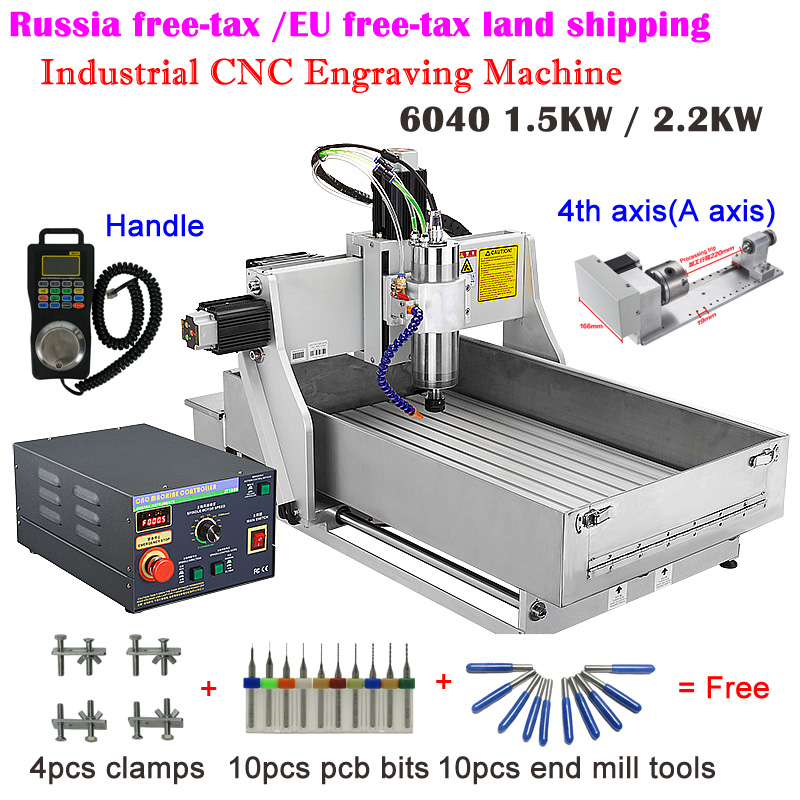 Industrial <font><b>CNC</b></font> <font><b>6040</b></font> Engraving Machine 3 <font><b>Axis</b></font> <font><b>4</b></font> <font><b>Axis</b></font> 1.5KW 2.2KW <font><b>CNC</b></font> Router Water Tank For Mach3 Controller ER11 ER20 Collects image