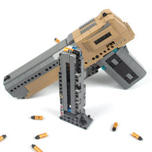 Cada пустынный Орел пистолет MK23 пистолет УЗИ пистолет-пулемет военные ww2 строительные блоки для техника городская полиция swat может