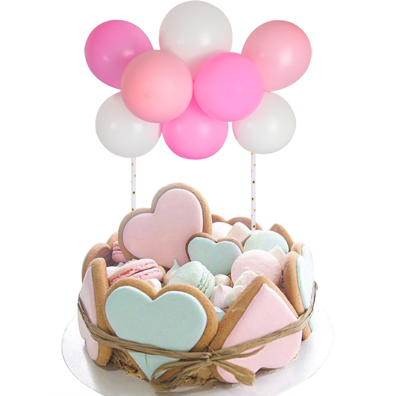10pcs/set 5 inch Latex Balloons Arch Kit DIY Balloon Garland Cake Topper for Baby Shower Wedding Birthday Party Cake Decoration-3