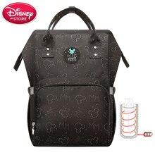 Sacs à couches Disney, sac isolant bouteille USB, à couches pour maman, à couches thermiques dalimentation pour bébé, Minnie Mickey Oxford, sac à main