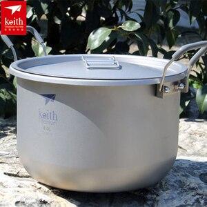 Image 3 - Титановый кастрюль для супа объемом 6 л, Нетоксичная кухонная утварь для приготовления пищи, кемпинга, походов, охоты, пикника, 1 шт.