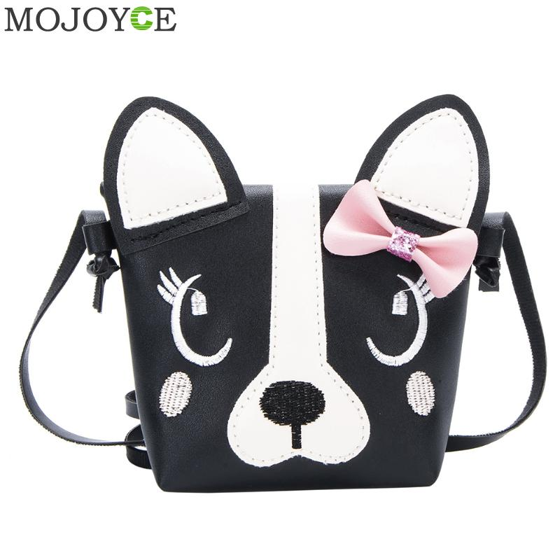 Cute Dog Shape Shoulder Bag Fashion Girl Shoulder Messenger Bags Baby PU Leather Crossbody Bags Mini Girls Cute Handbag