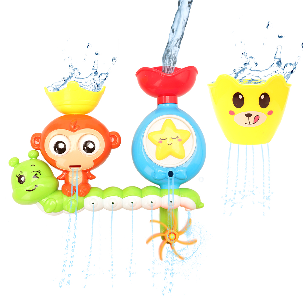 Kids Toy Multi Function Watering Bath Toys For Children Rotating Eyes Star Animal Summer Pool Swimming Game For Kids  Baby Gift