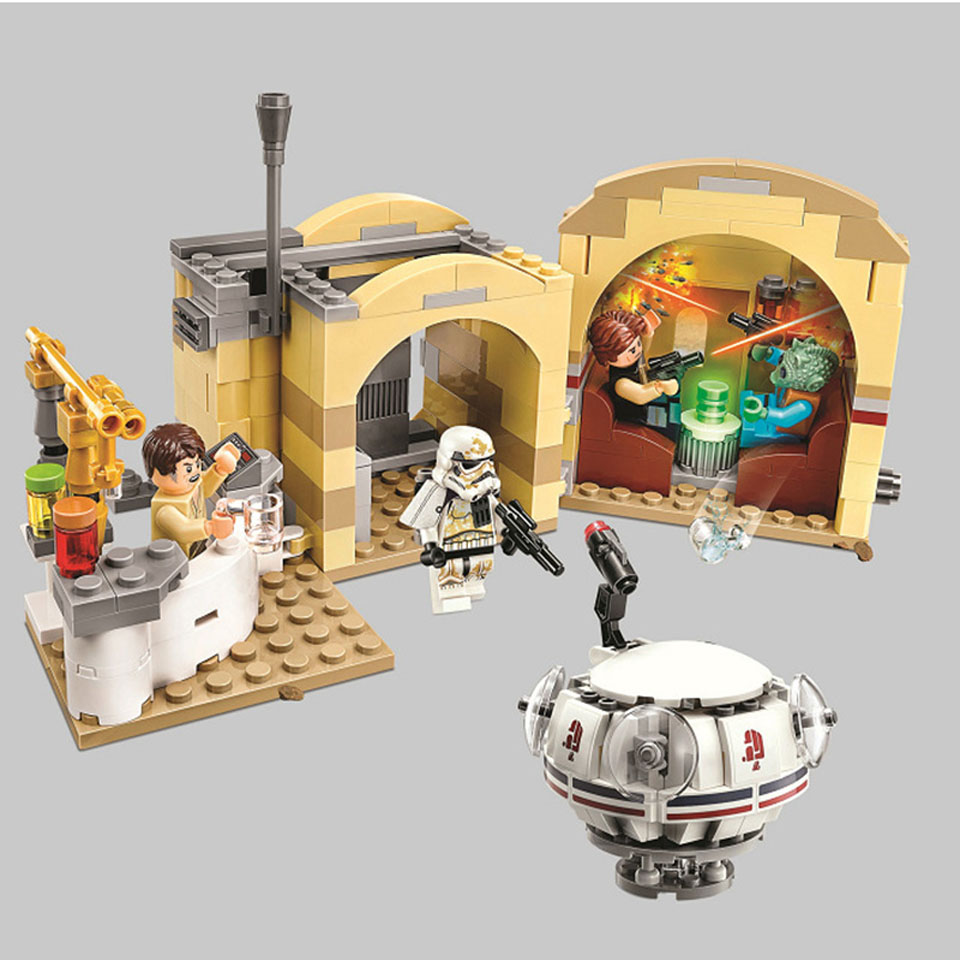 bela NEW 10905 Star Wars Series Mos Eisley Cantina Building Block 400pcs Bricks Toys Compatible With logoING Free Shipping image