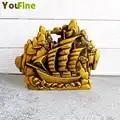 Bronce suave velero adornos cobre puro vela dragón bote decoración artesanías sala de estar muebles de oficina