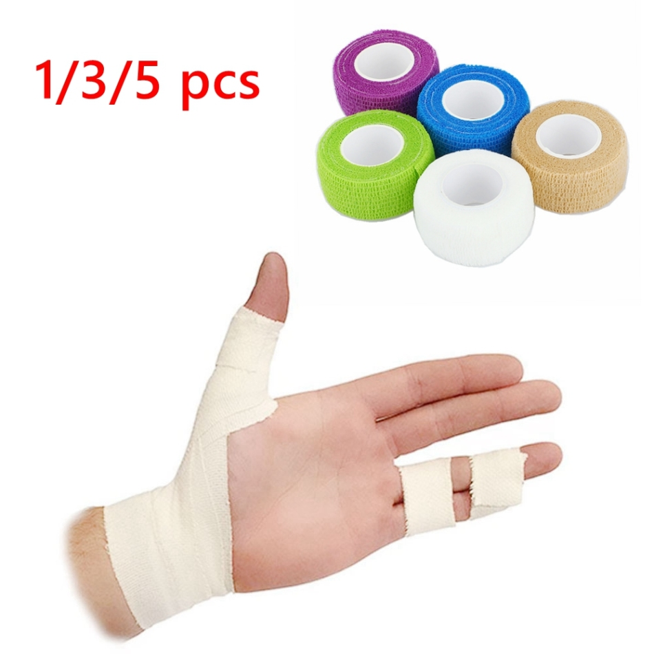1/3/5Pcs Waterproof Medical Therapy Self Adhesive Bandage Wrist Muscle Tape Finger Joints Wrap First Aid Kit Pet Elastic Bandage