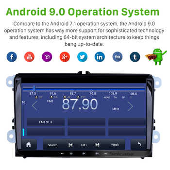 Seicane Android 9.1 2Din Car Multimedia player For VW/Volkswagen/Golf/Polo/Tiguan/Passat/b7/b6/SEAT/leon/Skoda/Octavia Radio GPS