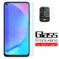 2 в 1 Защитное стекло для объектива камеры xiaomi redmi note 9 note9 6,53