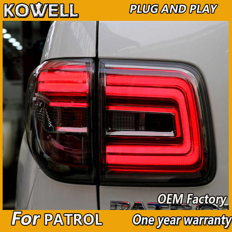Kowell Auto Stylingfor Nissan Patrol 2012-2018 Achterlicht Nissan Y62 Royale Led Achter Lamp Bumper Licht