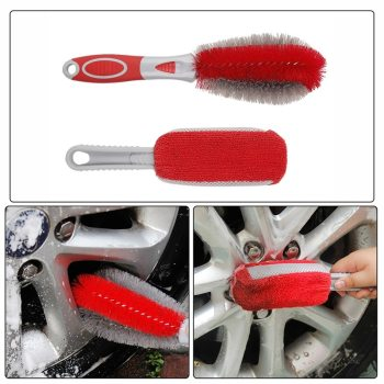 Car Rim Cleaning Brush Tire Detail Brush Car Wheel Wash Brush Wheel Rims Tire Washing Brush Auto Scrub Brush Car Wash Tools New image