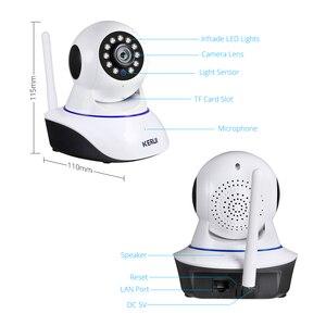 Image 5 - KERUI cámara IP inalámbrica para interiores 720P, 1080P, HD, visión nocturna, WIFI, IP, seguridad del hogar, detección de movimiento por infrarrojos, vigilancia