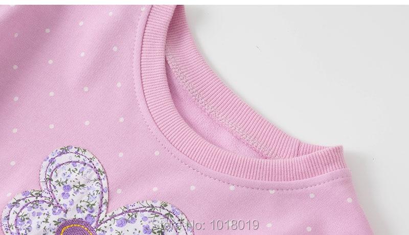 Ha3e20ccdfd364d82b70724a4a2731884k Bebe Girls s Fleeces Sweatshirt 100% Terry Cotton Sweater Children t shirt Kids Hoodies Blouses Baby Girl Clothes Dots Flower