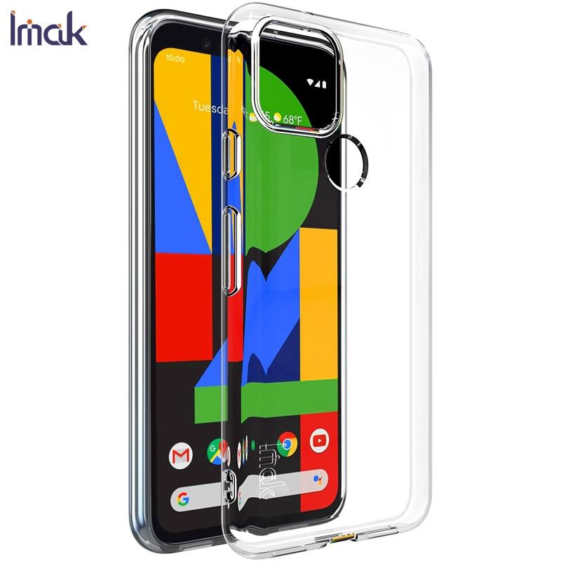 Для Google Pixel 5 Чехол IMAK Ультратонкий Мягкий ТПУ Прозрачный чехол-накладка для телефона чехол s для Google Pixel 4A 5G 4G 5 XL