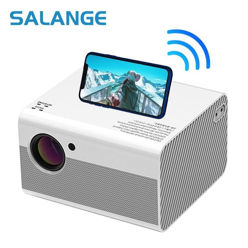 телевизор проектор для дома Salange Full HD 1080P мини проектор родной 1920x1080 4000 люмен USB Android видео проектор светодиодный Портативный дома Театр
