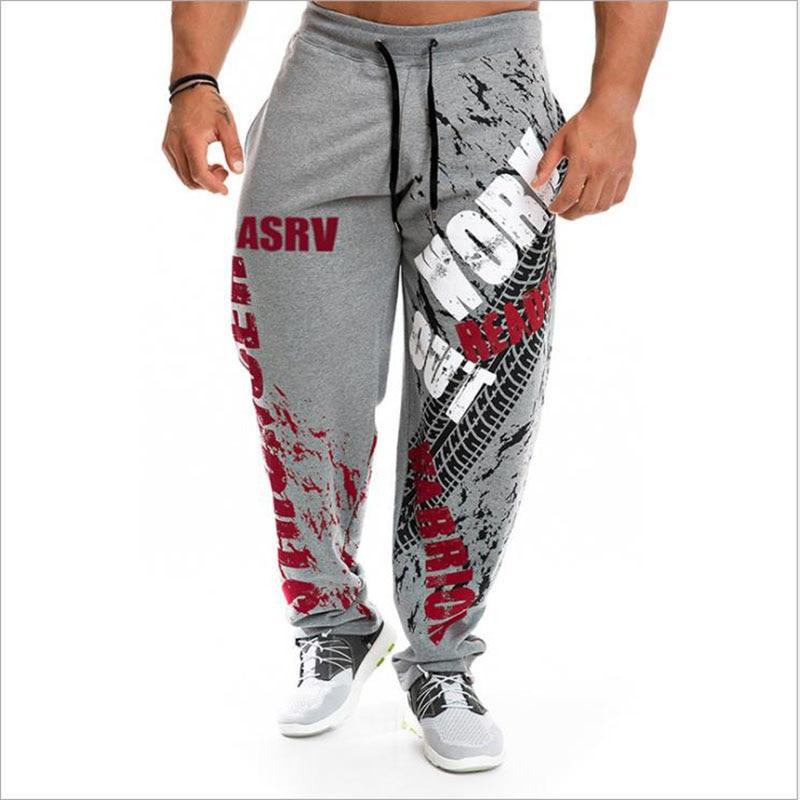 New Running Jogging Pants Men Cotton Soft Bodybuilding Joggers Sweatpants Harem Long Trousers Fitness Sport Training Pants(China)