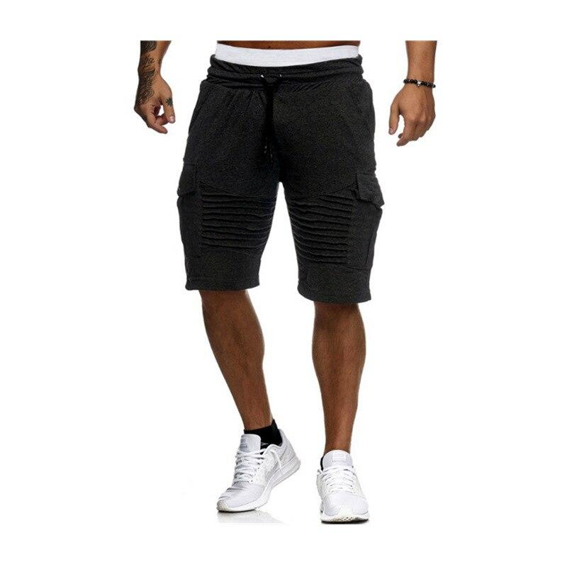 Men Shorts Leisure Men Knee Length Shorts Color Patchwork Joggers Short Sweatpants Trousers Men Bermuda Shorts Roupa Masculina