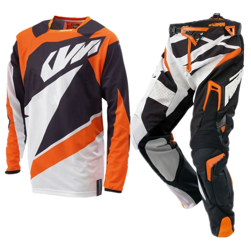 Gratis Pengiriman 2019 Motocross Jersey dan Celana MX Combo Balap Motorcross Racewear Dirt Bike Off Road Riding Gear Set