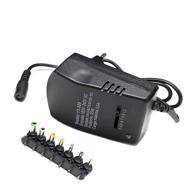 Universal AC DC 12V Power Adapter Supply Multi 3V 6V 9V 12V USB Power Supply Adapter 3 6 9 12 V Volt Converter 7 Plugs 3A 30W