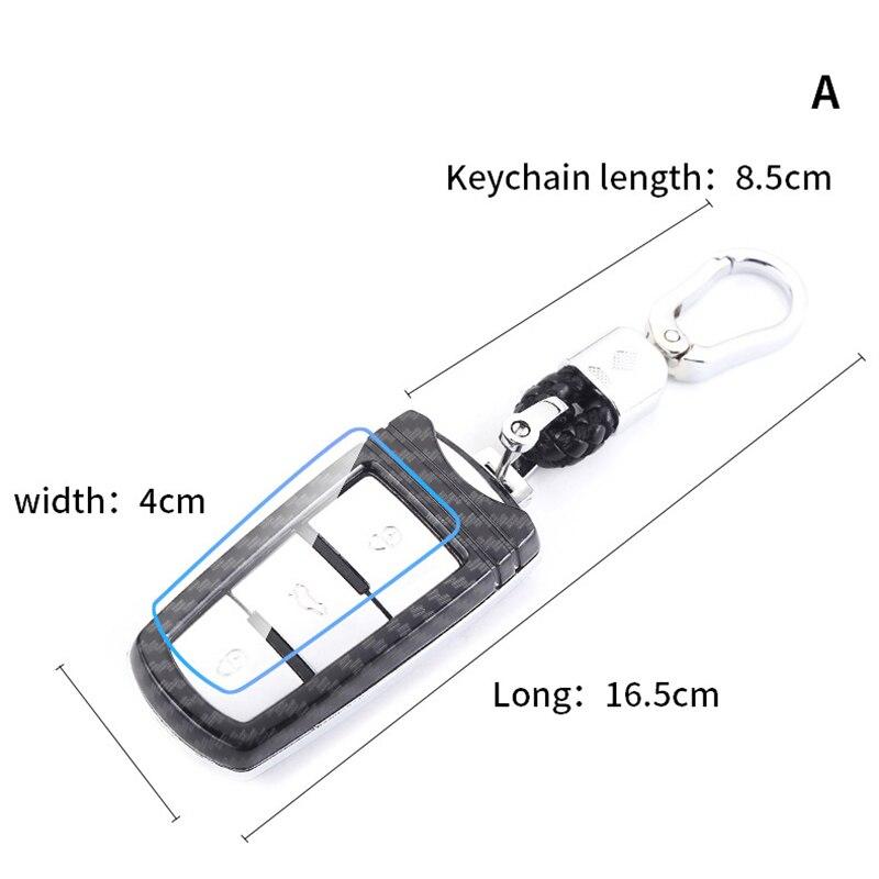 lowest price ABS Carbon Fiber Car Remote Key Case Cover For VW Volkswagen CC Passat B6 B7 Passat 3C CC Maogotan R3 B5 Car Styling Accessories