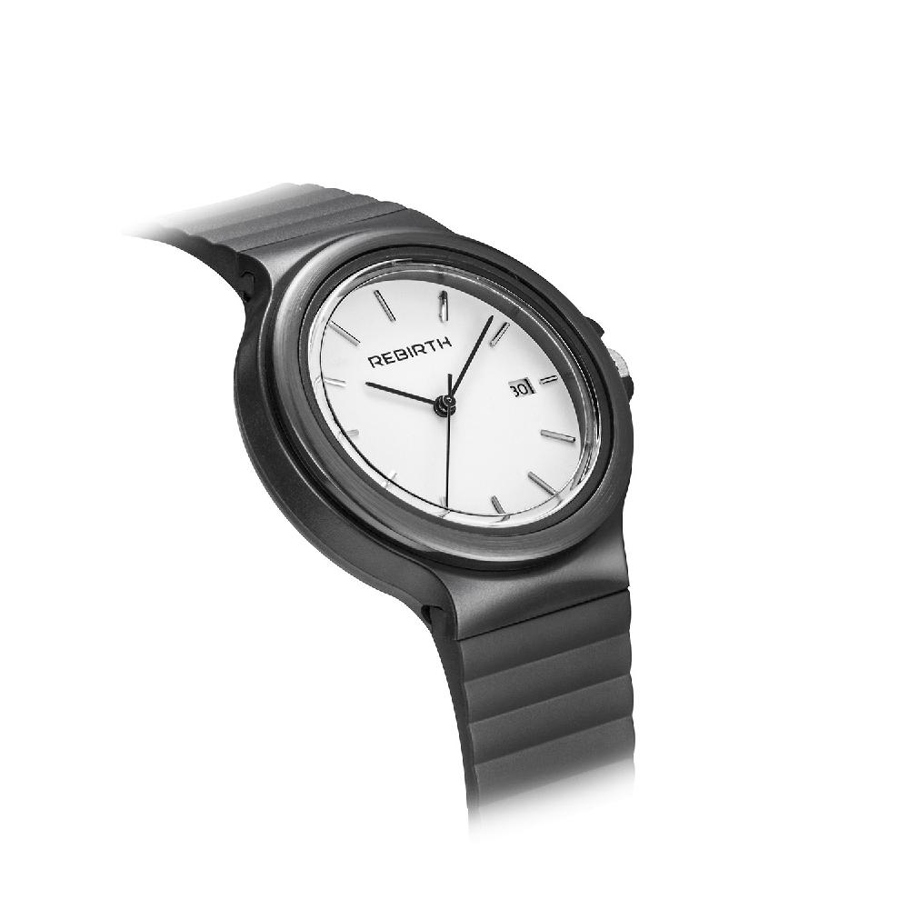 HobbyLane Women Men REBIRTH Quartz Watch With Silica Rubber Strap For Office/ Casual Wearing/ Gifts