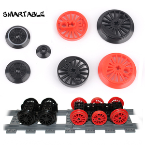 Smartable Train Wheels MOC Custom Parts Building Block Toys For Kids Education Compatible City Train 50254/57999/85557/85558(China)