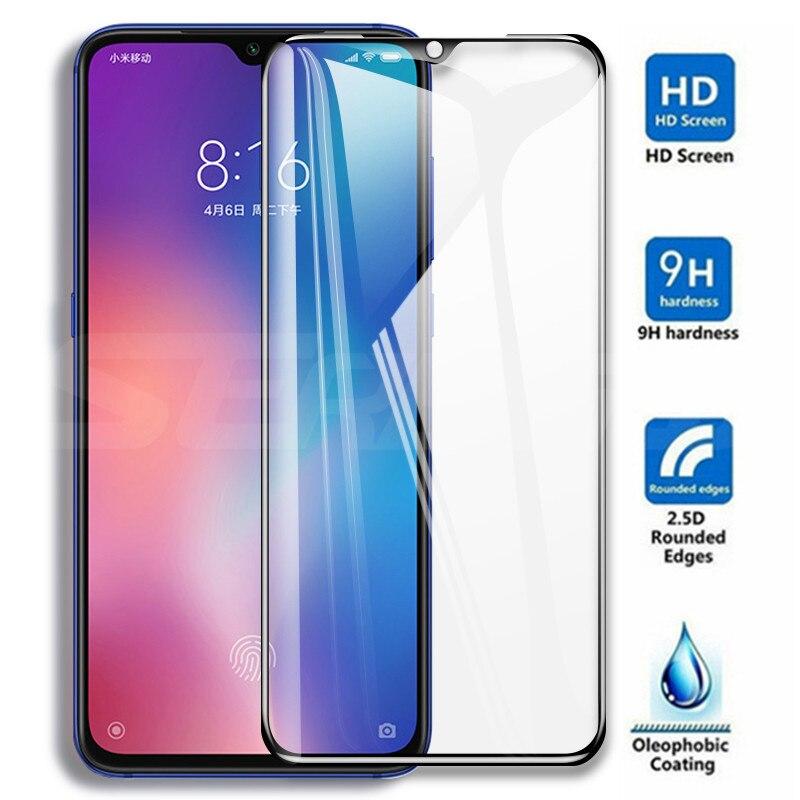 9D couvercle complet en verre trempé pour Xiao mi mi 9 CC9 CC9E mi 8 SE A1 A2 A3 Lite Pocophone F1 Film protecteur d'écran en verre