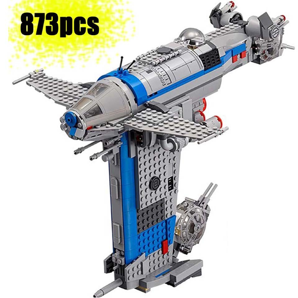 873pcs Star Series Wars Building Block Rebel Resistance Bomber Kits Model Bricks Figures Diy Toys Compatible Legoinglys <font><b>75188</b></font> image
