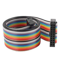 2.54mm Pitch 20 Pin 20 Way F/F Connector Rainbow Wire IDC Flat Ribbon Cable 48cm(China)