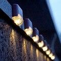 8/12/16 шт Солнечный свет Солнечный шаг огни Открытый Водонепроницаемый светодиодная подсветка лестницы на солнечной Забор лампы украшение д...