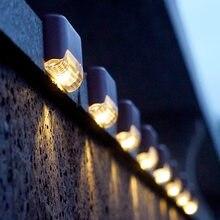 8/12/16 pces luzes solares passo luzes solares ao ar livre à prova dwaterproof água led solar cerca da escada decoração da lâmpada para o pátio escadas jardim quintal