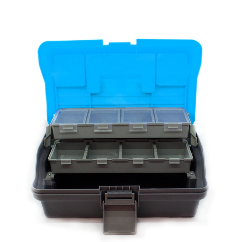Waterproof 3 Layer Fishing Tackle Box Fly Fishing Storage Case Portable Fishing Gear Strong Corrosion Resistant Storage Box