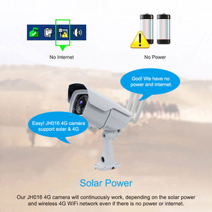 Image 3 - Jimi JH016 IP kamera 1080p 4G ağ ile şarj edilebilir pil enerjili GÜNEŞ PANELI Wifi kamera Full HD güvenlik kamera açık