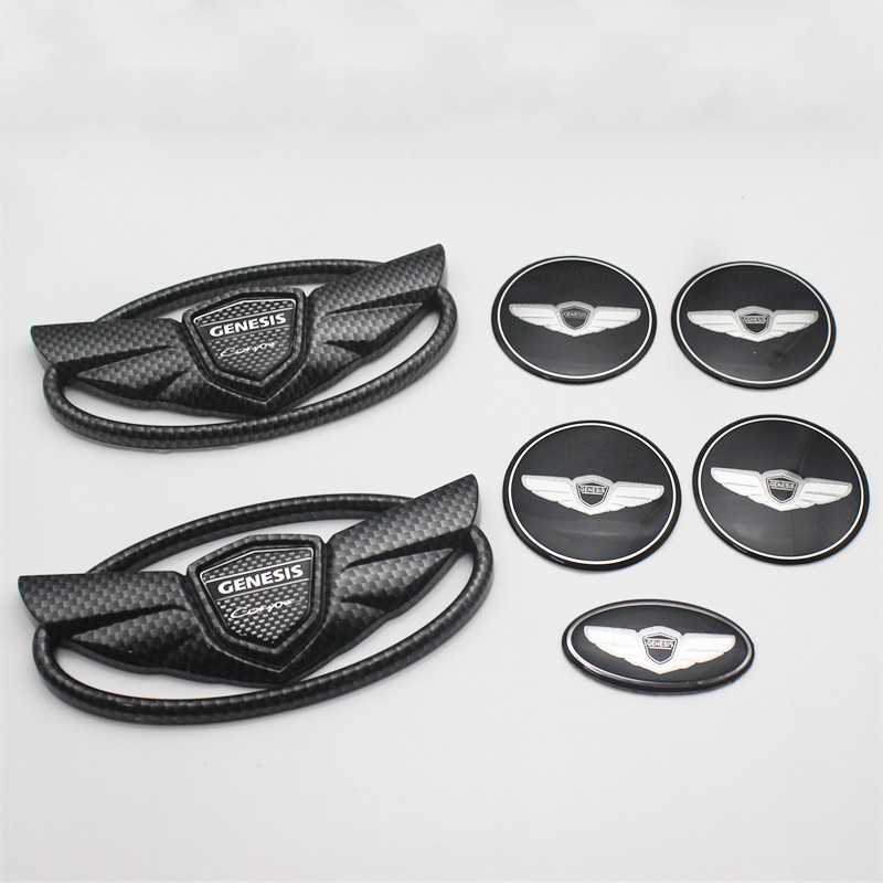 7pcs//Set 3D Silver Wing Badge Emblem Sticker 30/% OFF FOR Hyundai Genesis Coupe