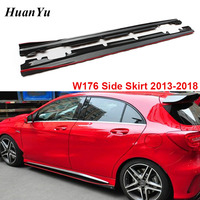 W176 W117 Carbon Fiber R Style Side Skirt for Mercedes benz A & CLA Class A180 A200 A45 CLA45 AMG Package 2013 2018