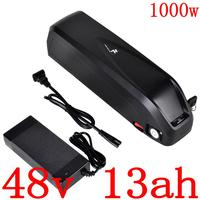 48V 13Ah electric bicycle battery 48V 13AH Lithium ion battery 48V ebike battery with 30A BMS for 48V 500W 750W 1000W motor
