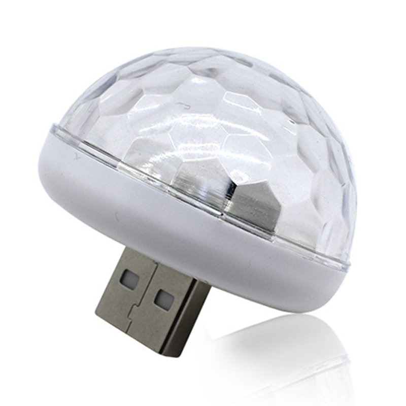 1x Car LED Bulb USB Atmosphere Light DJ RGB Music Disco Sound Lamp Party Karaoke Decoration Sound Control KTV DJ Light 12V