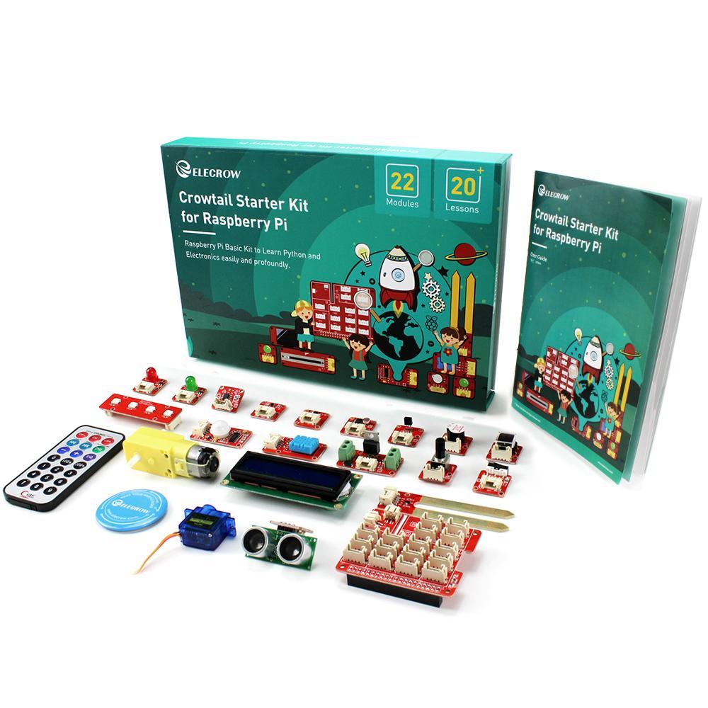 Набор для начинающих Raspberry Pi, набор для начинающих Crowtail для Raspberry Pi, электронные программируемые эксперименты с паром, образовательный проек...