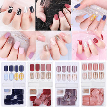 30/60Pcs Detachable Fake Nails Tips Colorful Full Nail Extension Decoration Artificial False Nails Tips With Glue Manicure Tool
