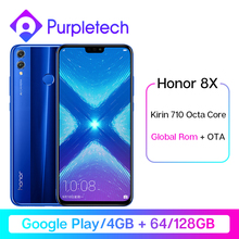 Global Rom Honor 8X Kirin 710 Octa Core Smartphone Google Play 6.5'' OTA update 20MP Dual Rear Camer