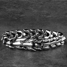 Яге из нержавеющей стали Дракон-Викинг мужские браслеты в подарок для мужчин