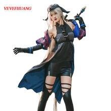 Костюм для косплея vevefhuang game arрыцари skadi серые платья