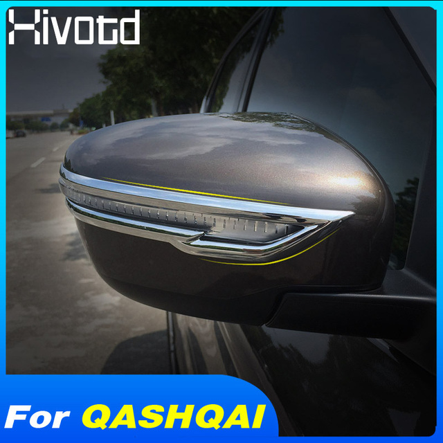 Hivotd For Nissan qashqai j11 Dualis X-trail 2019 Accessories Rearview Mirrors Decoration Strips Stickers Exterior Car Styling