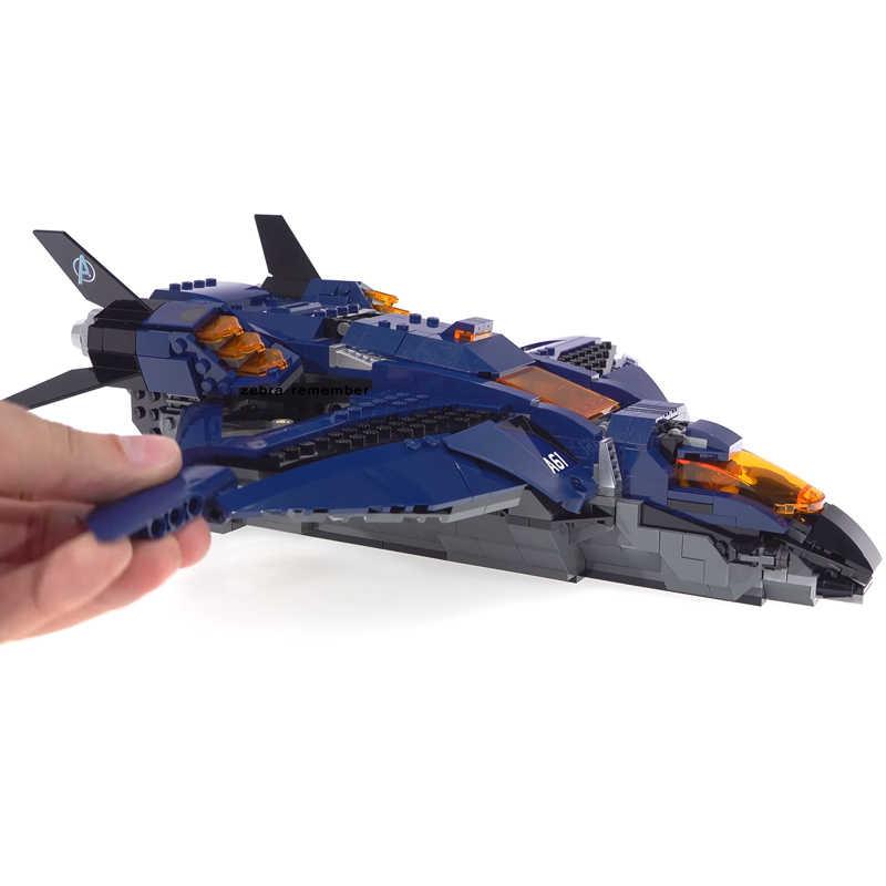 07122 Avengers 4 Endgame Ultimate Quinjet Set Building Bricks Blocks Captain Marvel Figures Compatible Legoinglys Kids Toys